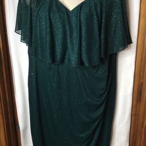 Connected Apparel Dress Sparkly Green Size 22W